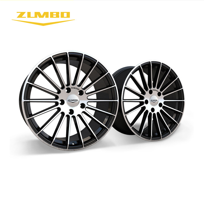 "Zumbo-A0060 Black face machined alloy wheels rims wheel rim 5 hole 19x8.5/19x9.5/20X8.5/20X9.5/20X10.5/22X9.5 inch 19"" 20"" 22"""