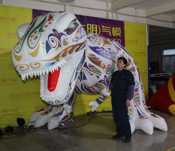 3m tall colorful advertising inflatable cartoon/inflatable dinosaur animal