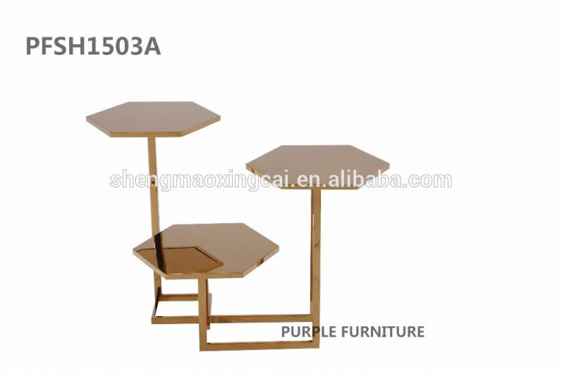 Customized Muse Marble U0026 Copper Hexagon Nesting Tables   Buy Dining Table  Marble,Cultured Marble Table,Italian Marble Tables Product On Alibaba.com