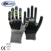 NMSAFETY NEW high anti-cut mechanical impact protective TPR glove