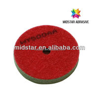 MIDSTAR high fiber flexible pad for special shape stone polishing