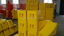 custom polyurethane wheel chocks / polyurethane wedge / stop blocks