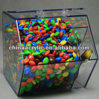clear acrylic sweet display wholesale for storing sweet or coffee bean