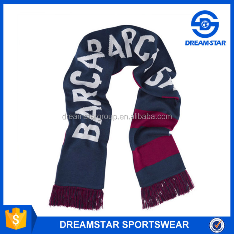 Custom Logo 2016 New Arrive European Cup Football Scarf