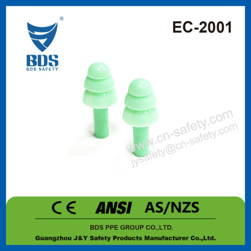 Ce anti noise industrial safety silicone ear plugs wholesale ear defender