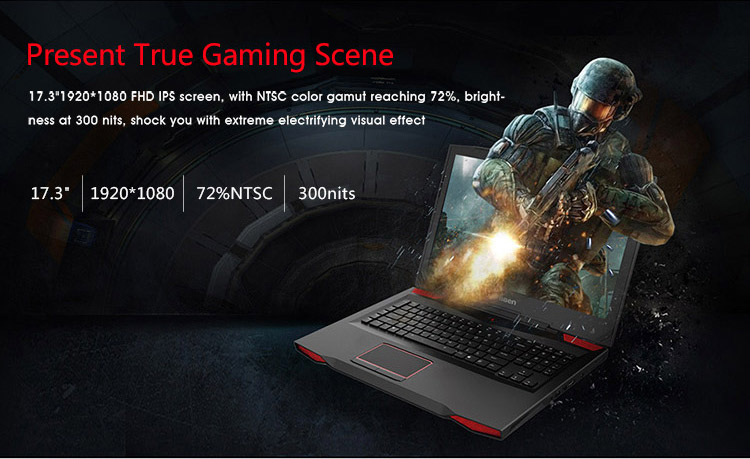 Super 17.3 inch i7-7700HQ gaming laptop