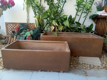Fiberstone big outdoor flower pots for garden plants