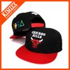 custom square brim embroidered snapback hats wholesale