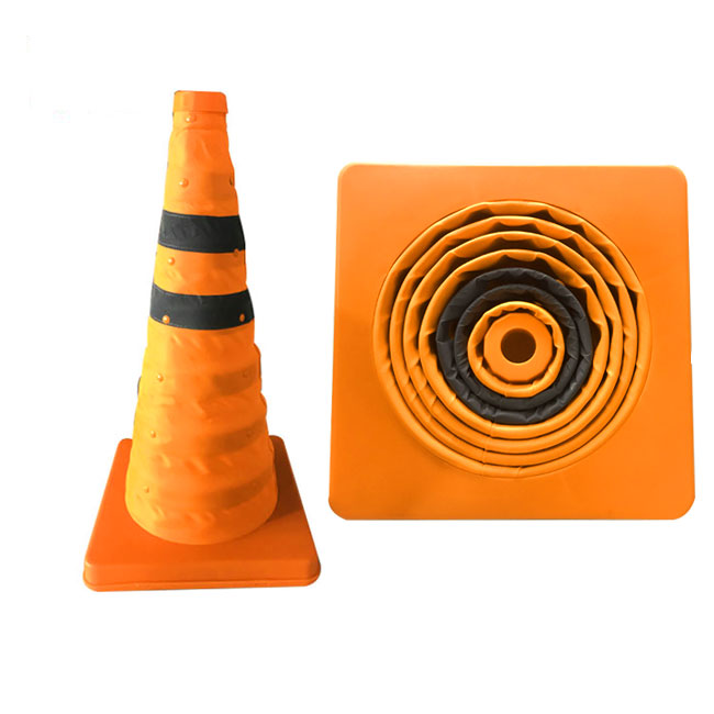 Wholesale Anti-collision Soft flashing traffic cone