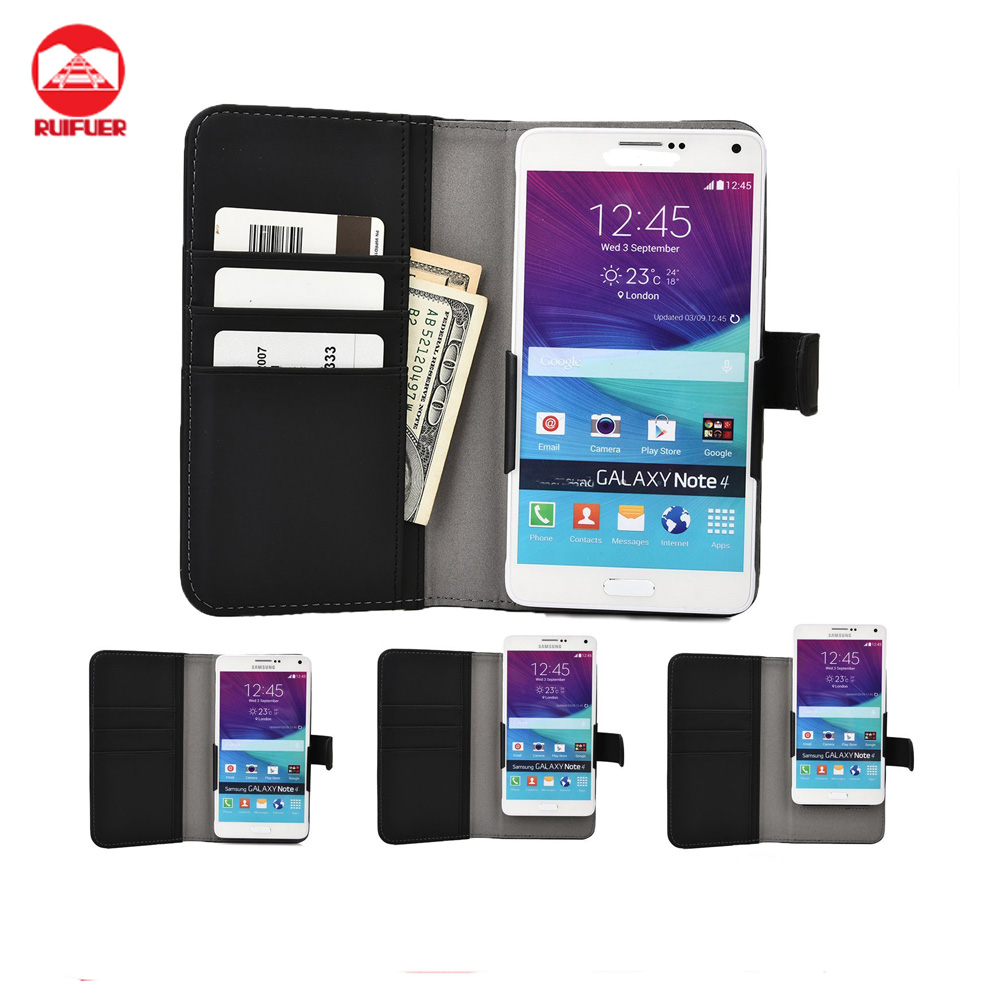 Factory Wholesale Universal With Credit Card Holder Book Style Flip Wallet PU Leather Cover Case for WIKO Bloom 2