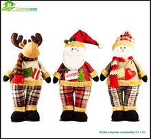 Decoration Plush Snowman Toy Christmas Decorations Wholesale Plush Christmas deer snowman stuffed Toy Stuffed Animal