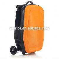 PC/EVA luggage colourful royal trolley luggage with 3 wheels