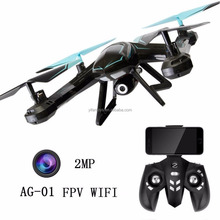 Wifi FPV RC drone RC Quadcopter Helicopter 2MP FPV HD Camera AG-01 RC Drone 200W Camera WIFI Real-time Racing Drone Transmission