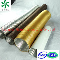 semi aluminum air ducting Any size round semi rigid air duct For industrial and HVAC