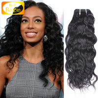 wholesale 20 inch natural wave virgin remy brazilian hair weft for black women