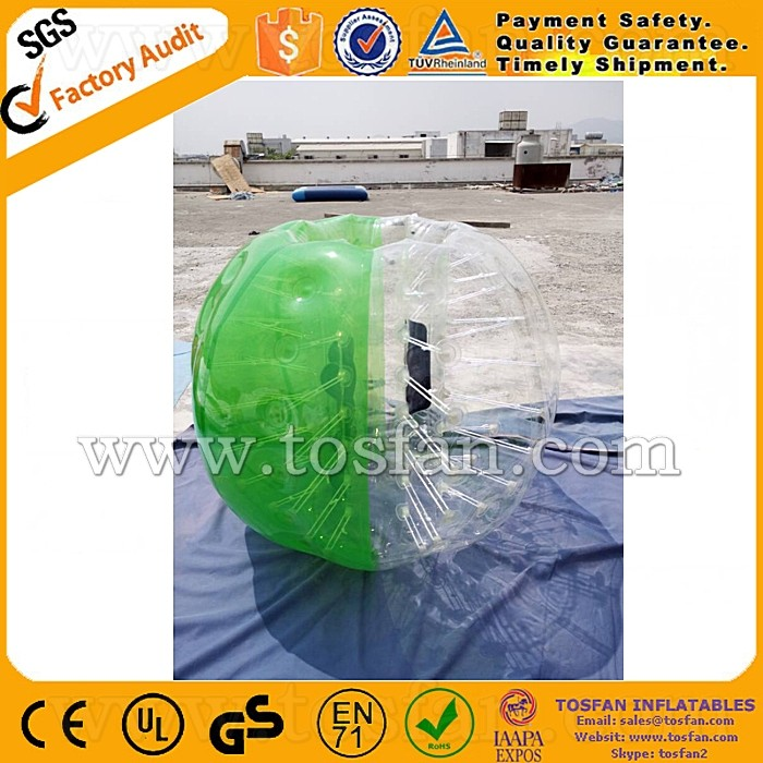 Hot sale inflatable bubble ball with CE blower TB119