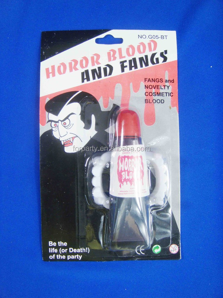 CG-H8008 Halloween Fangs and novelty cosmetic blood