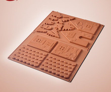 DIY baking tool Gingerbread House Christmas house silicone chocolate mold