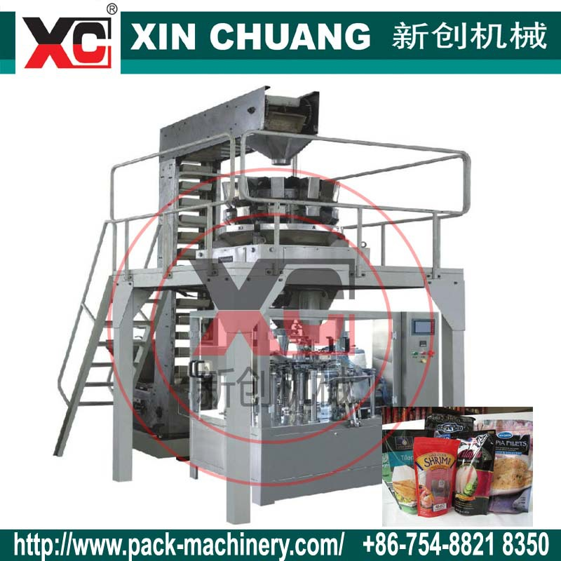 Shantou XC ZGX-5 Automatic doypack spout pouch filling capping machine