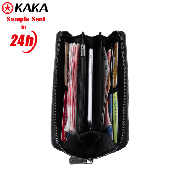 European fashion business latest stylish black wallet men's purse women backpack purse