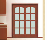 Double Main Entry Door Modern Design Wood Doors with glass