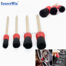 Car Cleaning Vents Dash Trim Seats Wheels Black Boar Bristle Soft Detailing Brushes