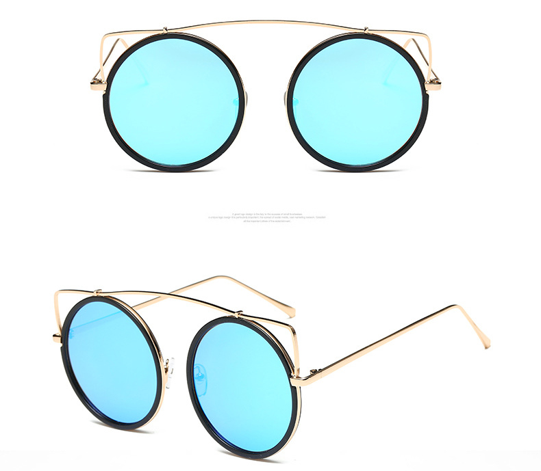 Latest Retro Design Metal Frame Cateye Sunglasses Women Brand Designer UV400 Sun Glasses