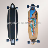"2013 New 36"" Beach Bamboo Longboard Skateboard"