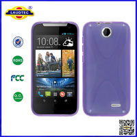 X-Line Translucent Clear TPU Gel Case Back Cover CaseFor htc desire 310 Smart Phone--LAUDTEC