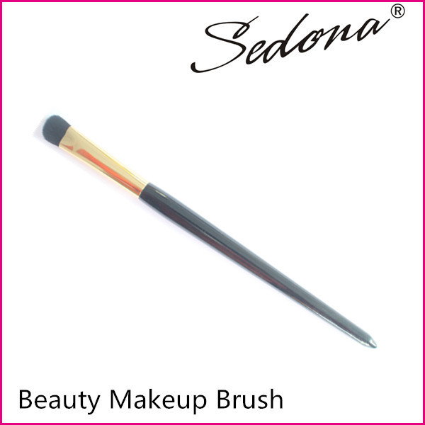Sedona eyeshadow makeup brush, all over shadow brush with tapered shape wooden handle, long handle makeup brush