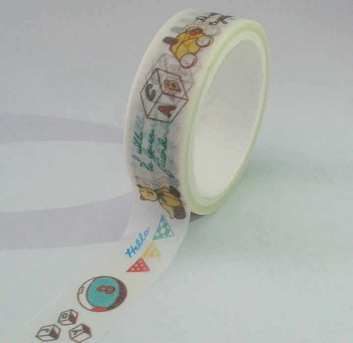 Free Sample Fancy Embroidery Japanese Karachi Washi Paper Tape for Box Decoration