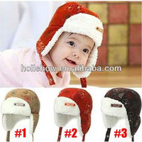 Cute Winter Fox Faux Fur Wool Earflap Infant Hat