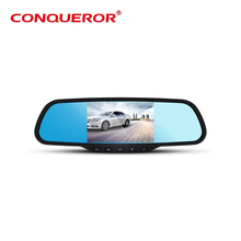 Full hd 1080P Conqueror G-2800 car rearview mirror dual camera dvr video recorder