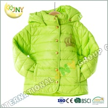 Girl's winter cotton-padded jackets for children