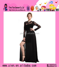 2015 New Arrival Charming Long Sleeve Lace Evening Gown High Quality Long Sleeve Lace Evening Gown