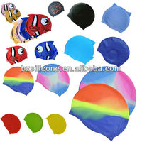Fashion silicone swimming cap/silicone cap/swimming cap