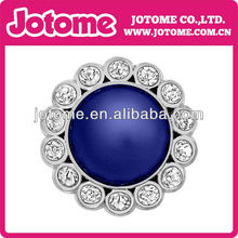 Dark Blue Pearl with Diamond Stones 23mm Acrylic Rhinestone Buttons