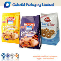 Custom Printed Plastic Aluminum Foil Food Packing Bags for Cookies/Snack Wholesale