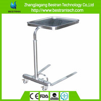 BT-SMT004 hospital equipments hospital mayo table, stainless steel lab stool