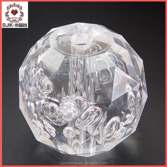 2016 hot sale clear plastic acrylic fillable ball ornament 80mm, clear acrylic crystal ball