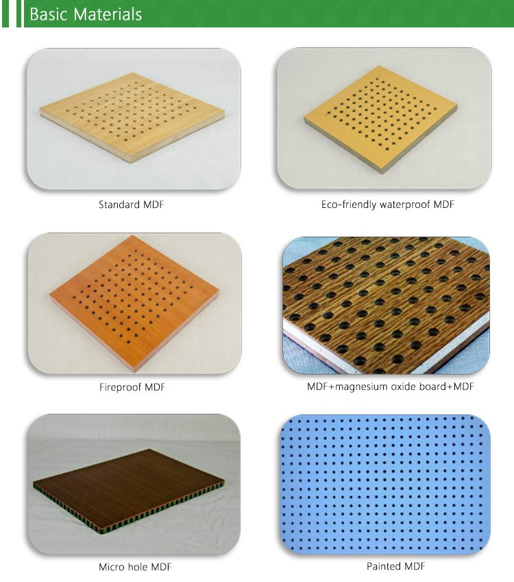 Perforated acoustic wood panel