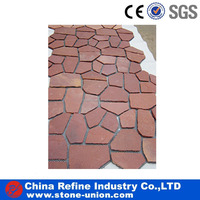 natural red tumbled stone flooring flagstone mats slate factory sale