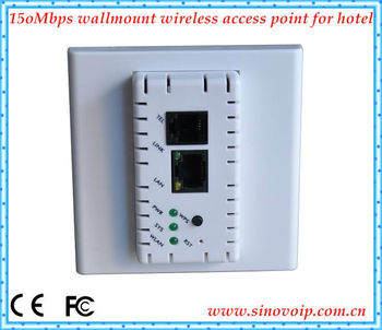 150Mbps 2.4GHZ wallmount wireless access point,internet acces with POE support
