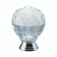 Crystal K9 glass furniture pulls/furniture handles and knobs