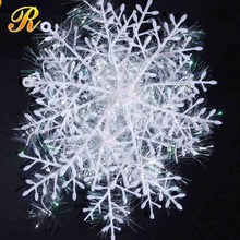 White Snowflake Christmas Ornaments Holiday Festival Party Home Decor Decoracion