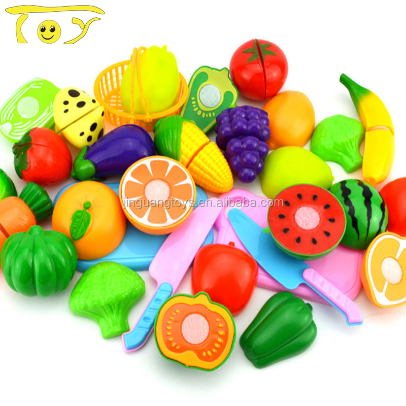 Educational plastic toy vegetable chart
