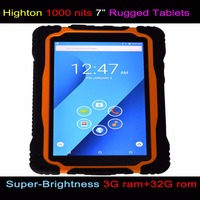 2018 Newest Cheapest 7 inch Android 1000 nits super-Brightness readable in strong sunlight 4G 3G RAM+32G ROM UHF RFID Rugged pc