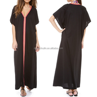 Alibaba wholesale clothing 2014 oem new design women black abaya