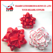 2015 Beautiful handmade ribbon Star Bow/Printing Gift Ribbon Star Bow/star bow for Box packaging