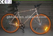 700c tiger paint fixed gear track bicycle